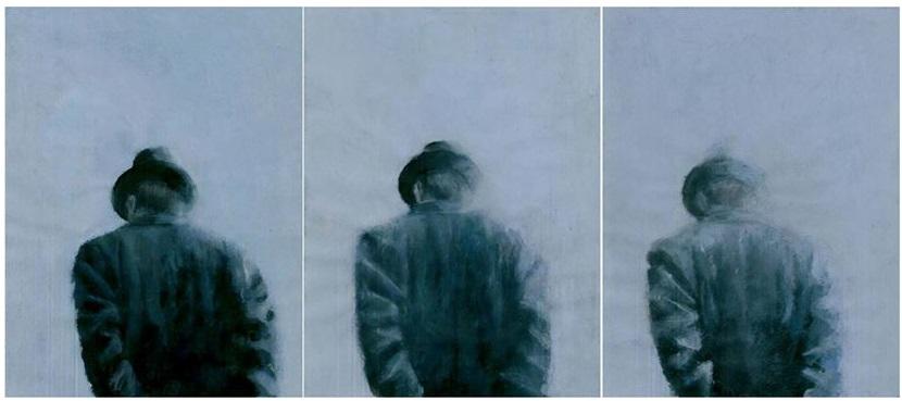 Paul De Flers, Nebbia, acrilico su carta 2014