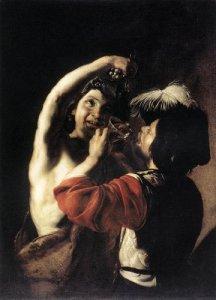 Bartolomeo Manfredi, Bacco e un bevitore