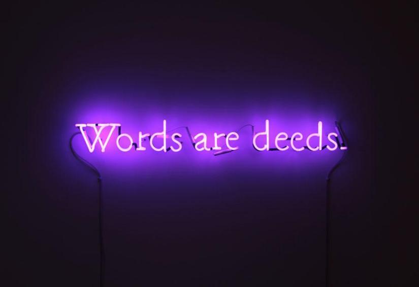 Joseph Kosuth - Words Are Deeds
