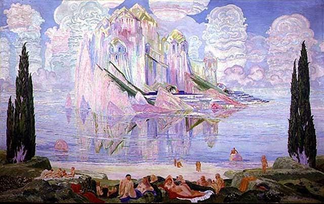 Wenzel Hablik - Crystal Castle in the Sea