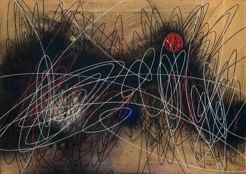 Roberto Crippa, tecnica mista su tela, 1951