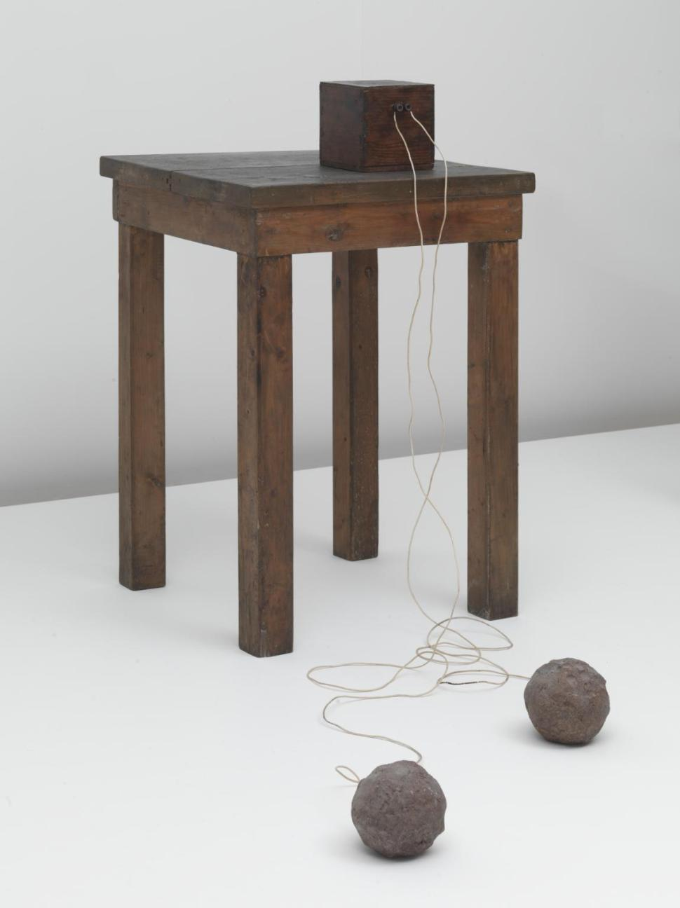 Table with Accumulator 1958-85 by Joseph Beuys 1921-1986
