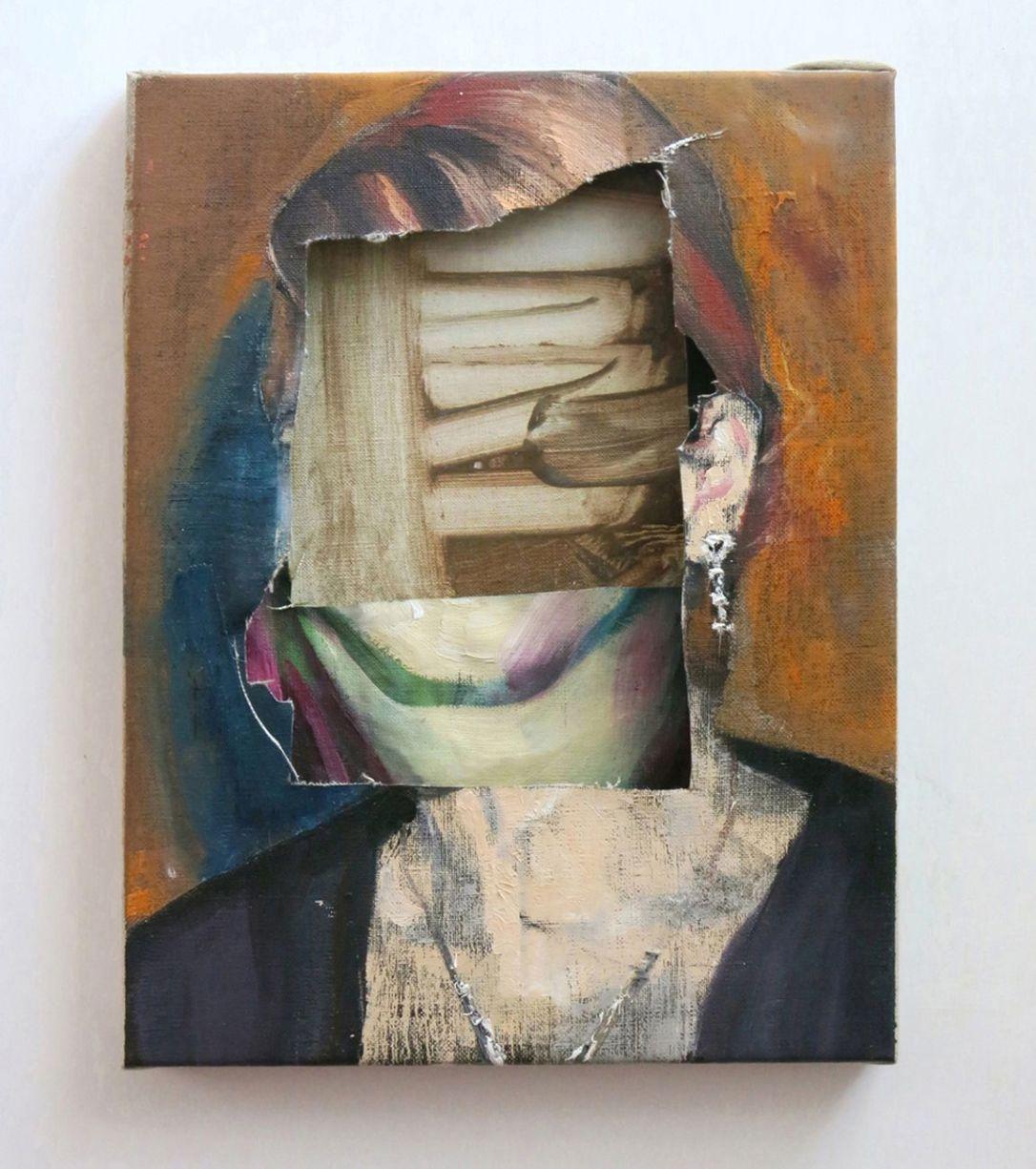 Alessandro-Scarabello-Head-1-2014-olio-su-tele-sovrapposte-cm-275x21.-Courtesy-The-Gallery-Apart-Roma