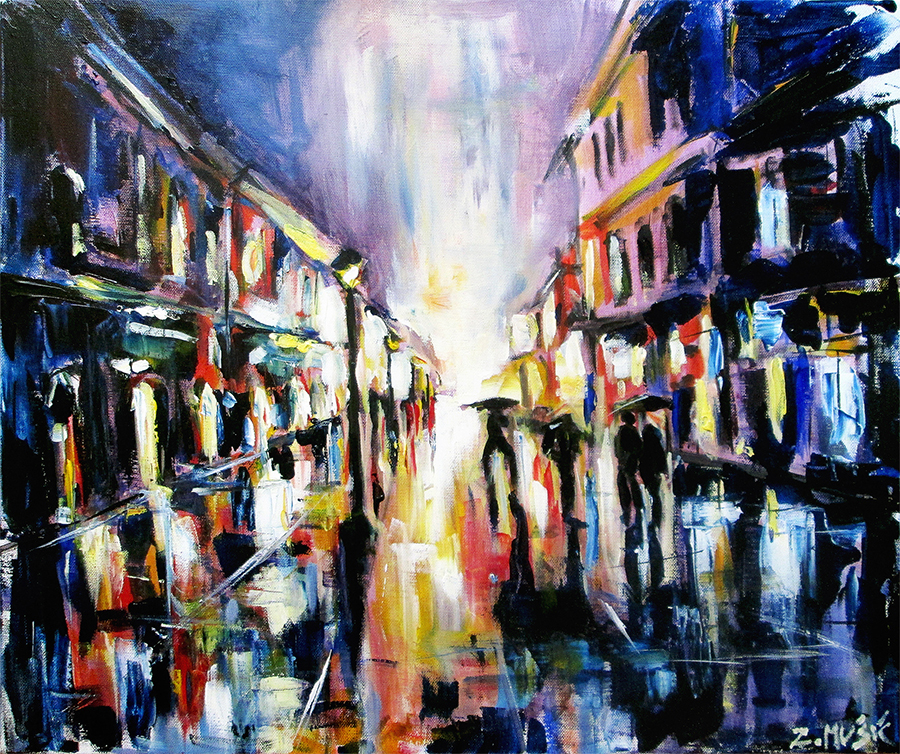 city-street-in-rain-urban-landscape-acrylic-on-canvas-contemporary-art-painting-z